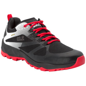 Jack Wolfskin Fast Striker Shield Chaussures Basses Homme, black/red